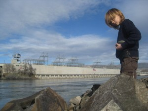 Kid at Celilo