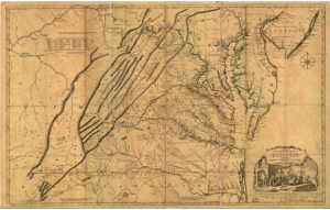 "Joshua Fry and Peter Jefferson, ""A Map of the Most Inhabited Part of Virginia"""