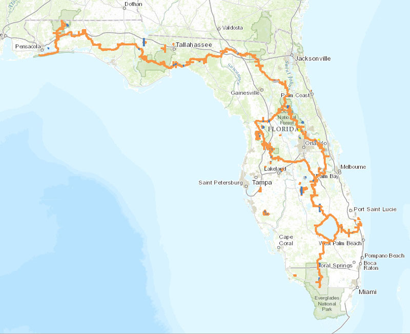 Florida-Trail-Map
